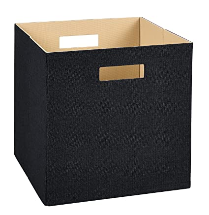 Attirant ClosetMaid 7113 Decorative Fabric Storage Bin, Black