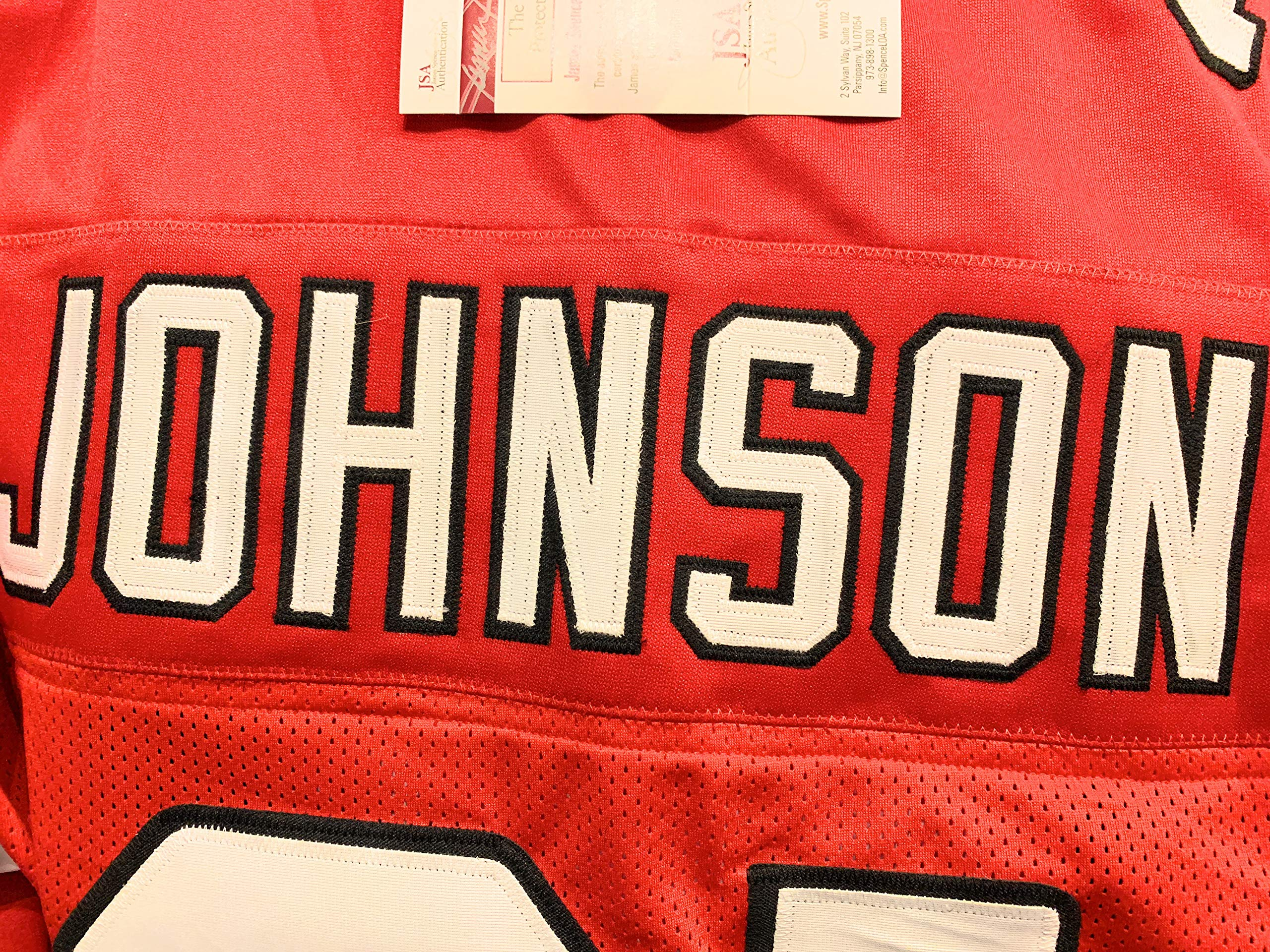 David Johnson Arizona Cardinals Signed Autograph Red Custom Jersey JSA Witnessed Certified