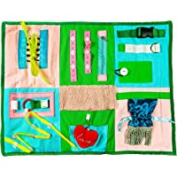 Fidget Blanket Sensory Pad with Activities for Toddlers and Elderly, Aids in Therapy of Children with Autism and Seniors…