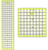 Skyhawk Acrylic Quilter's Ruler Combo Pack - Rectangular 24-Inch-by-6-1/2-Inch and Square 9-1/2-Inch-by-9-1/2-Inch quilting rulers