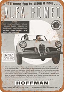 Wall-Color 10 x 14 Metal Sign - 1957 Alfa Romeo Giulietta Spider - Vintage Look