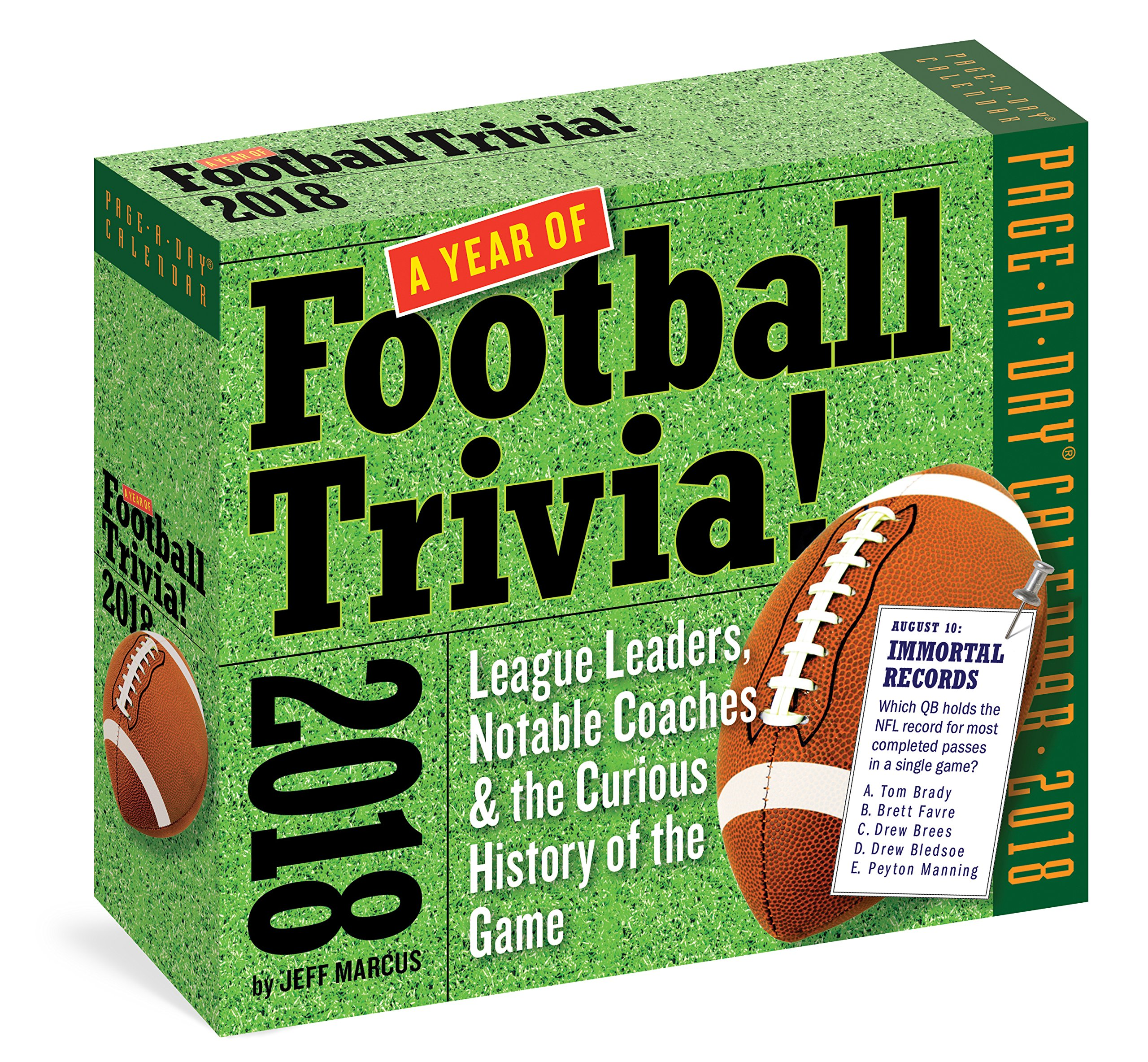 A Year of Football Trivia! Page-A-Day Calendar 2018 by Workman Publishing Company