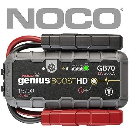 e98e66b8f Amazon.com  NOCO Boost HD GB70 2000 Amp 12V UltraSafe Lithium Jump Starter   Automotive