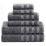 American Soft Linen 6-Piece 100% Turkish Genuine Cotton Premium & Luxury Towel Set for Bathroom & Kitchen, 2 Bath Towels…