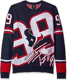 houston texans watt j 99 loud player sweater mens extra large