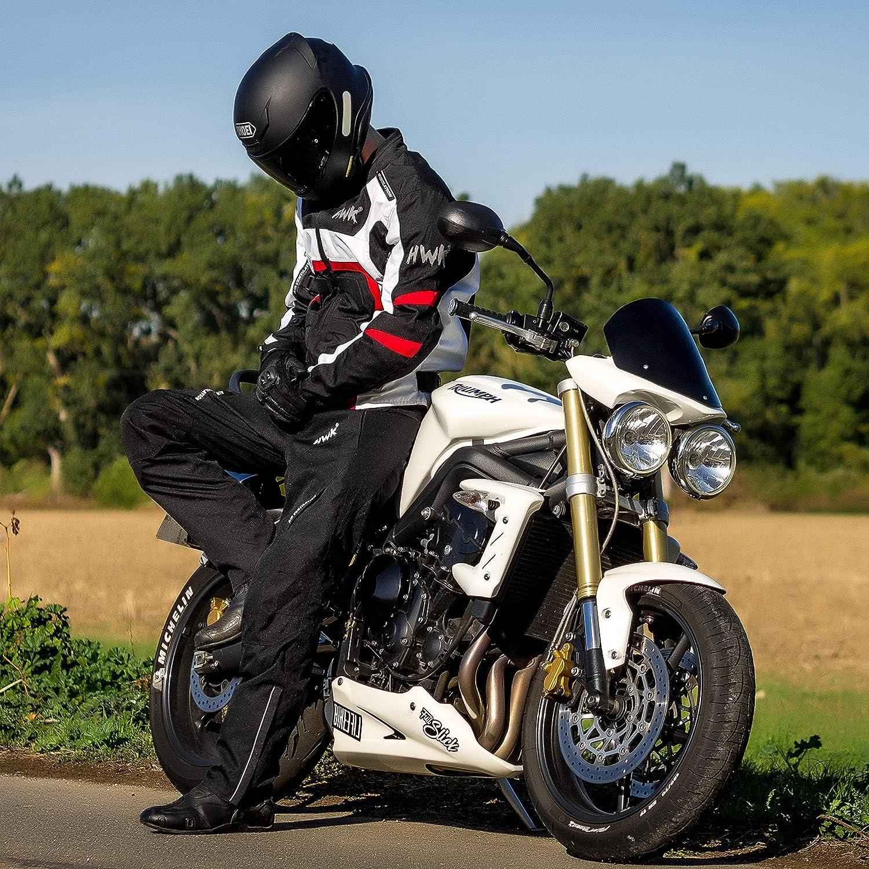 1 year Guarantee Waist40-42 Inseam30 HWK Mens Black Textile Breathable Waterproof CE Armoured Motorbike Overpants Motorcycle Trousers//Pants
