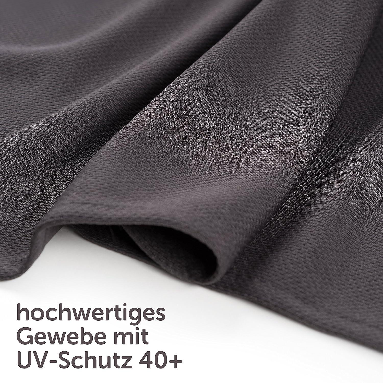 Pare-soleil voiture b/éb/é XXL 68 x 50 cm convient aussi pour grandes vitres lat/érales Anti-uv protection contre la chaleur et pour obscurcir anthracite//noir avec rideau /à ouvrir ou fermer facilement