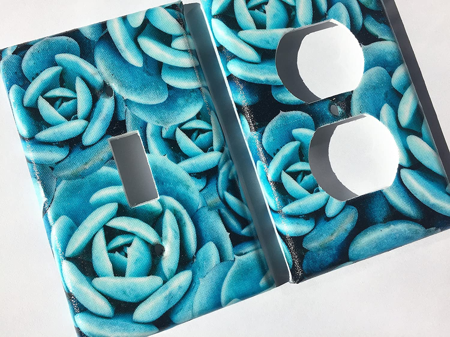 Echeveria Succulent Light Switch Plate Cover - Various Sizes Offered