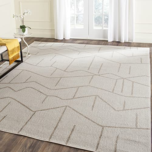Safavieh Amherst Collection AMT429K Modern Abstract Area Rug, 4 x 6 , Ivory Grey