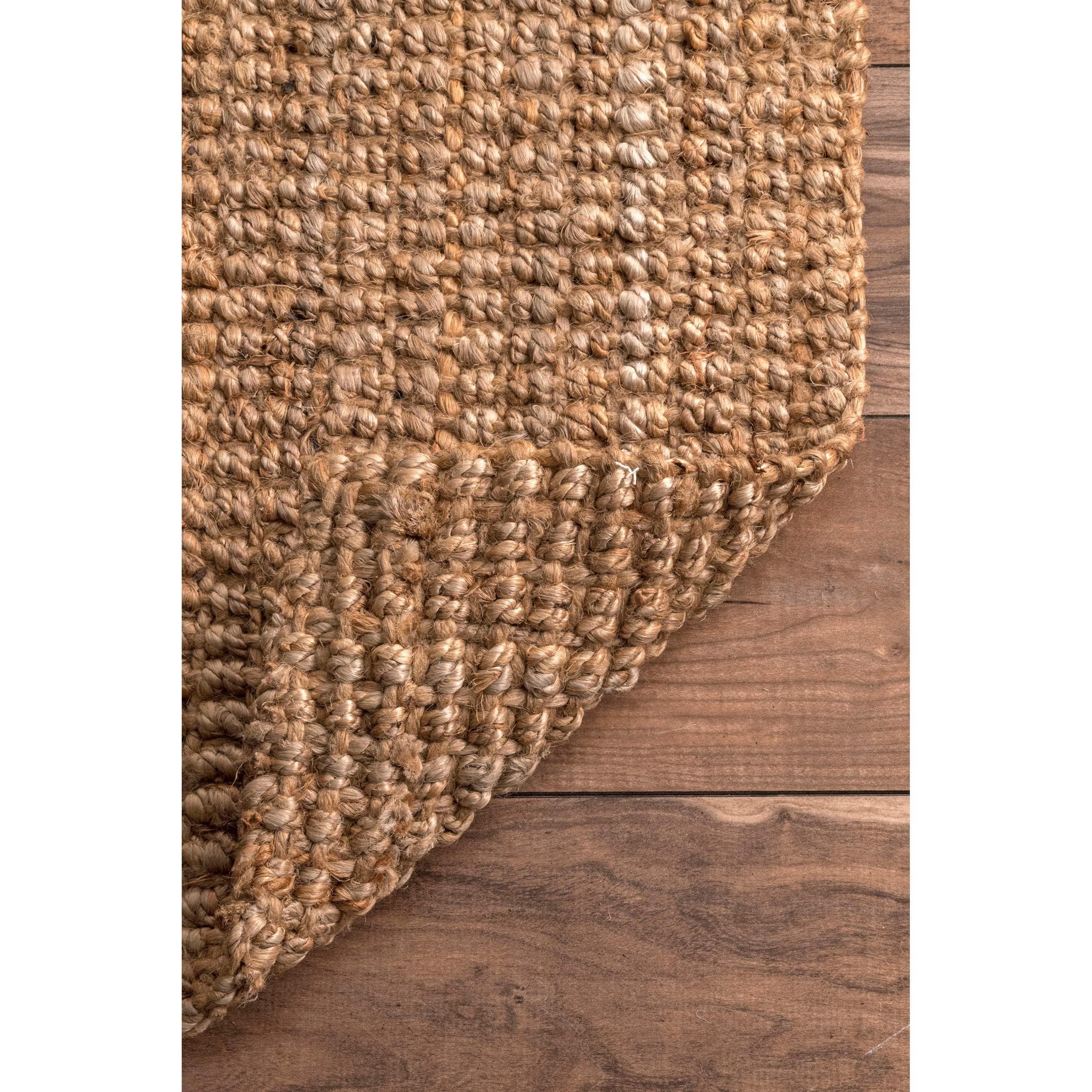 nuLOOM Handwoven Jute Ribbed Solid Area Rugs, 4' x 6', Natural by nuLOOM (Image #4)