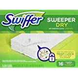 Swiffer Sweeper Dry Sweeping Pad Refills for Floor mop Unscented 16 Count