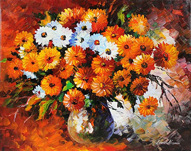 Amazon & Amazon.com: VASE OF FLOWERS is an Original Oil Painting on ...