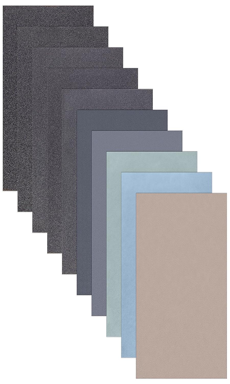 15 Blatt Schleifpapier Sortiment 210 x 110 mm P5000 P3000 P2000 P1000 P800 Nass und Trocken Sandpapier