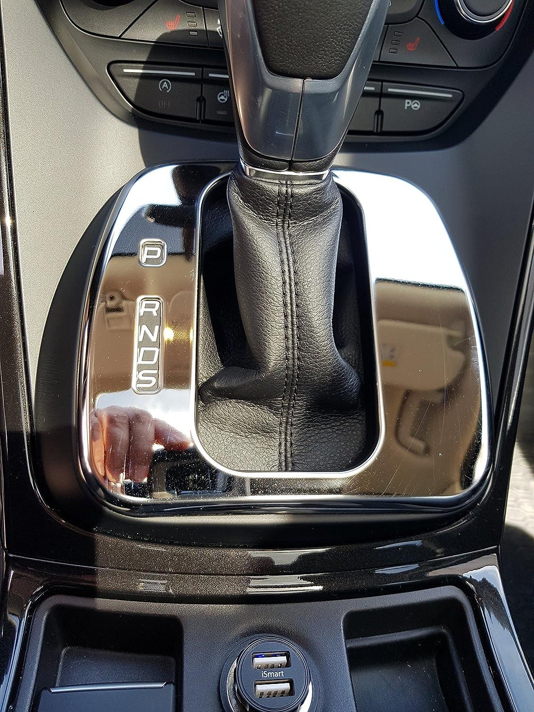 Emblem Trading Emblem Abdeckung Automatik Getriebe Rahmen Blende Edelstahl Optik Passend Für Kuga Auto