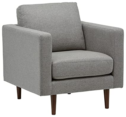 Etonnant Rivet Revolve Modern Accent Chair, Grey Weave