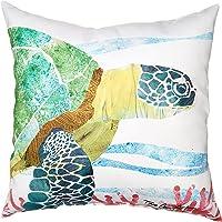 C&F Home 85145001 Sea Turtle Indoor/Outdoor Throw Pillow, Blue
