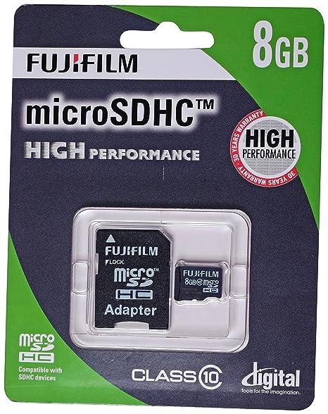 Fujifilm 8 GB de Alto Rendimiento C10 Tarjeta Micro SDHC con ...
