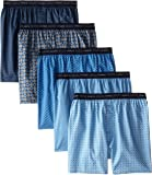 Hanes Men's 832BX5ASTL 5 Boxers, Multicolour (Assorted)