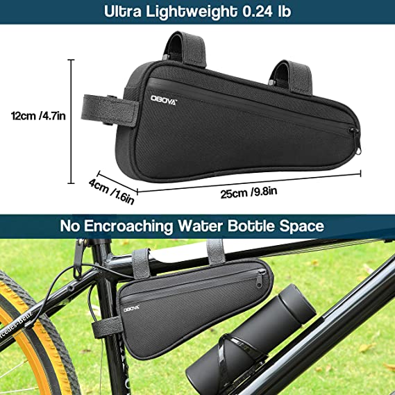 Waterproof Triangle Pouch Bicycle Bag Frame Front Head //Lot Tube Top Case U9D1