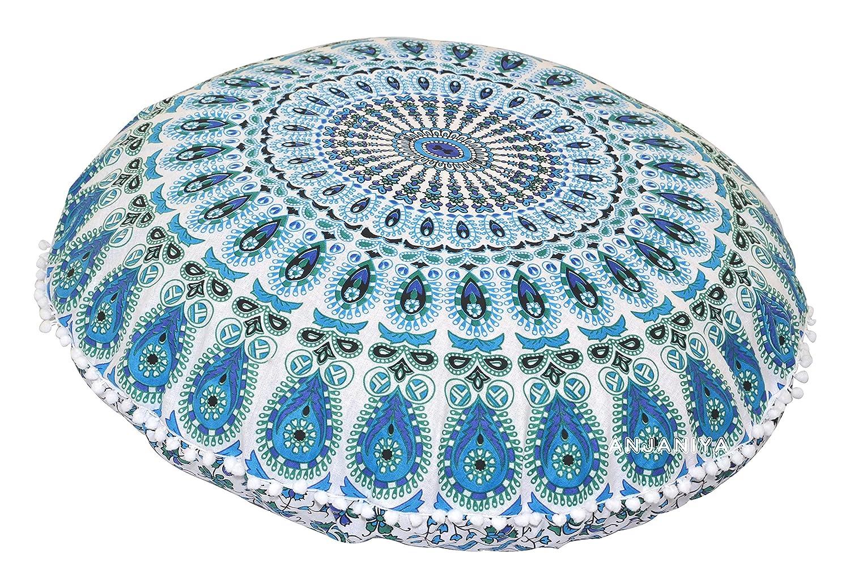 Mandala Yoga m/éditation Sol Taie doreiller confortable Maison de voiture Lit canap/é Housse de coussin Canap/é Assise Couvre-lit /à fermeture /Éclair hippie d/écoratif Ottoman