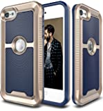 iPod Touch 6 Case, E LV iPod Touch 6 - Hybrid [Scratch/Dust Proof] Armor Defender Slim Shock-Absorption Bumper Case for iPod Touch 5 / iPod Touch 6 - DARK BLUE / GOLD