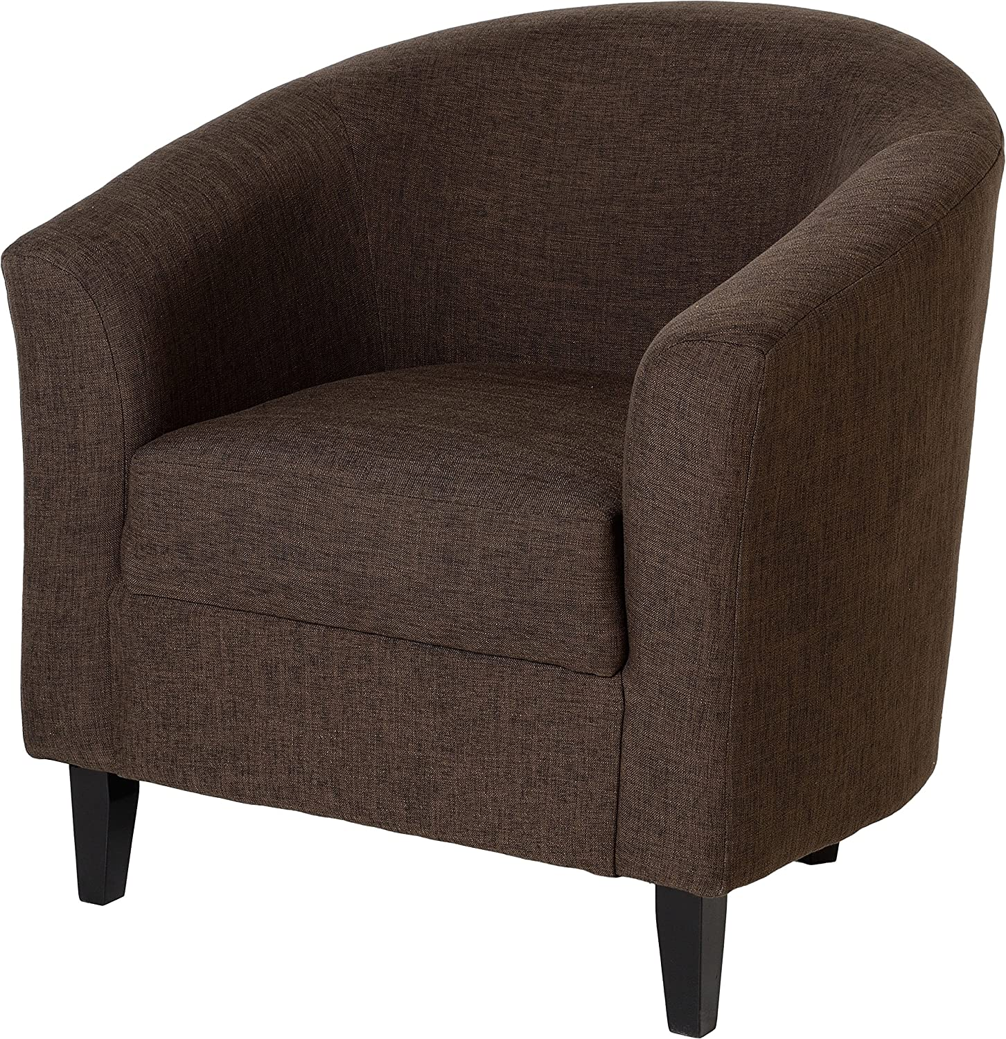 Tempo Tub Chair Dark Brown Fabric Upholstery Amazon