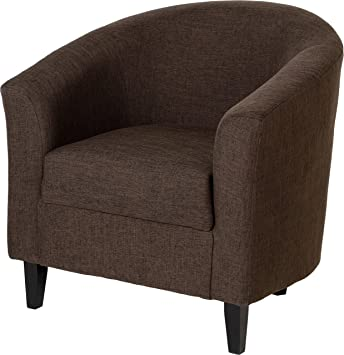 Tempo Tub Chair Dark Brown Fabric Upholstery: Amazon.co.uk: Kitchen U0026 Home