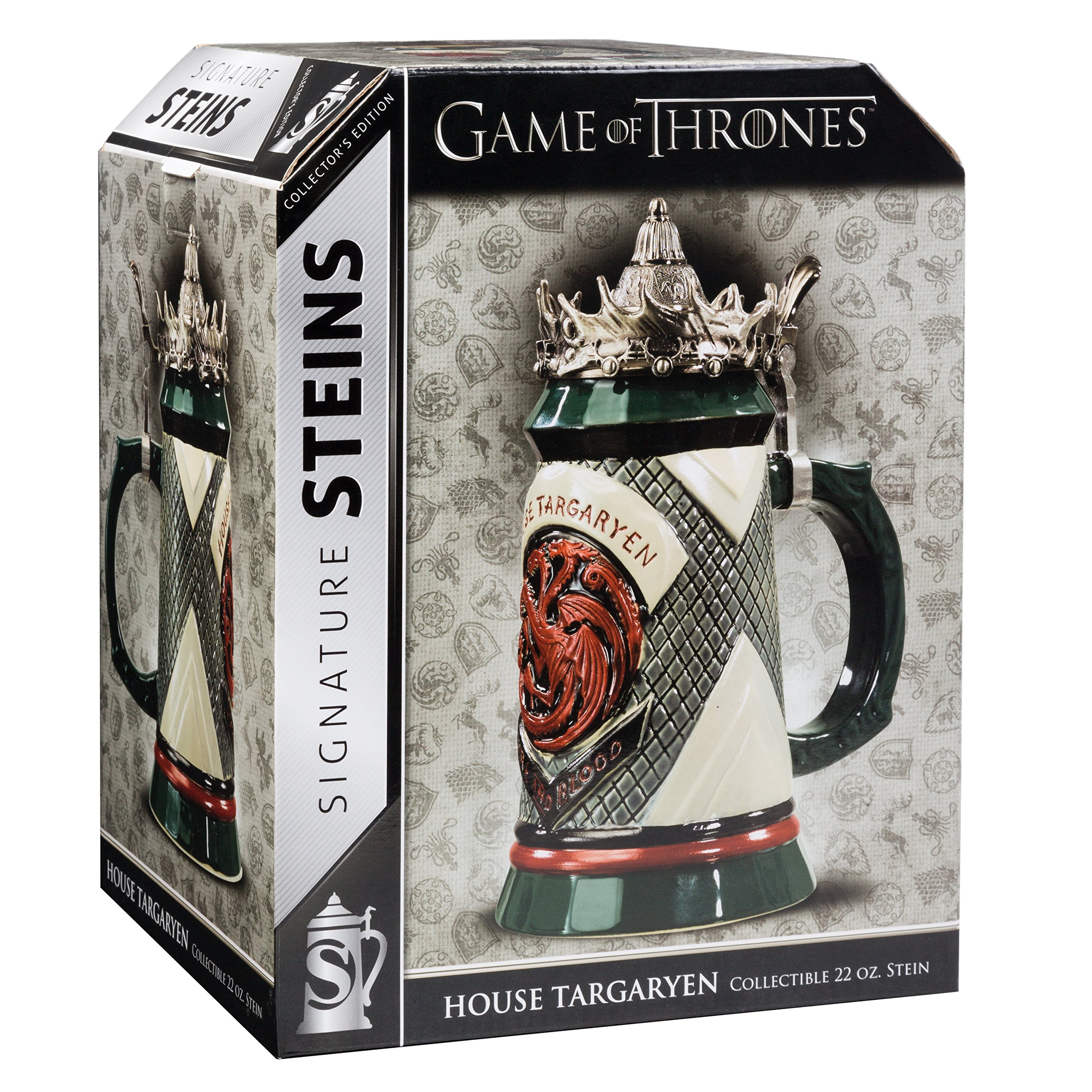 Game of Thrones House Targaryen Stein - 22 Oz Ceramic Base with Pewter Baratheon Crown Top by Game of Thrones (Image #8)