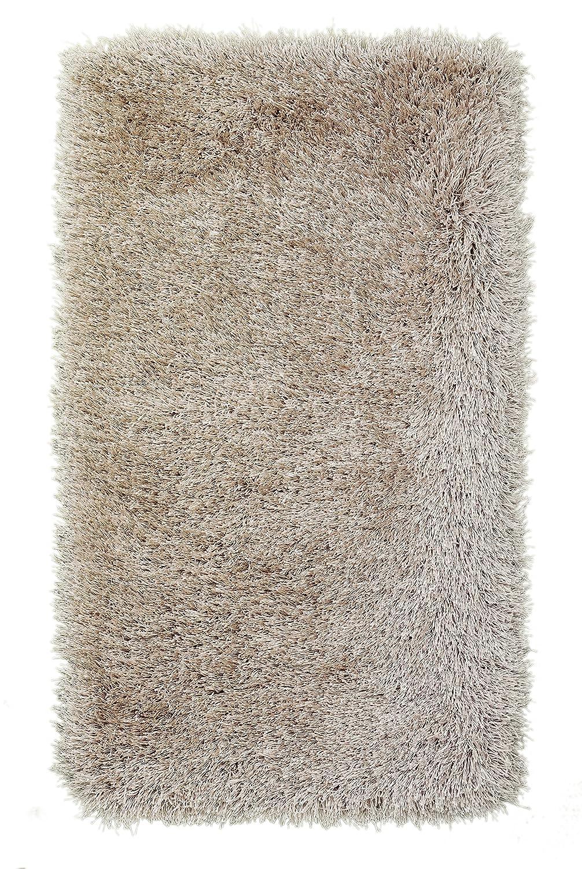 Sona-Lux Shaggy Teppich Dichter Flor 60mm, Speziell gezwirbelter Garn und seidiger Glanz, Farbe  Beige (60 x 110 cm)