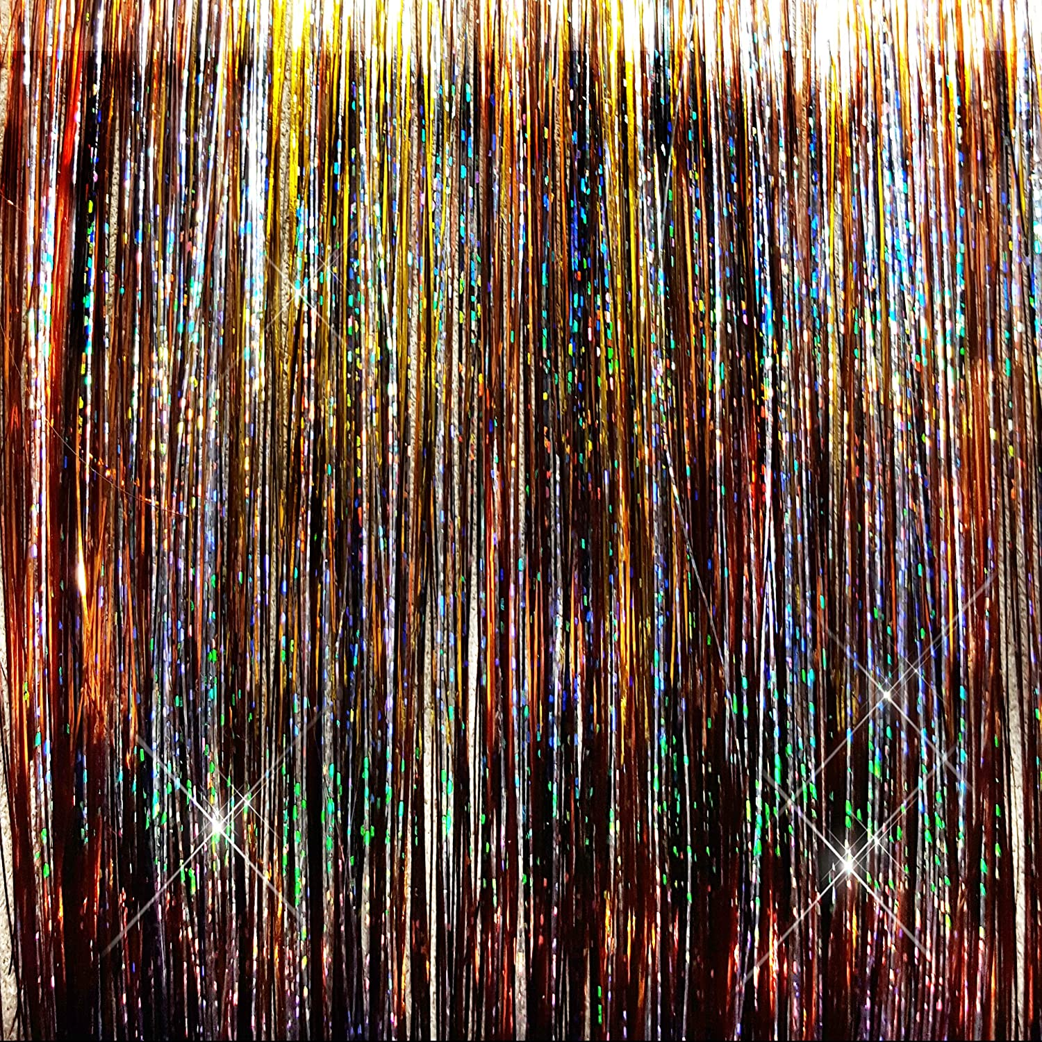 40 Hair Tinsel 125 Strands – Amber Mystery Mix LD