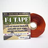 """F4 Tape - Self-Fusing Silicone Tape MIL-SPEC 1"""" X 36' (Red Oxide)"""