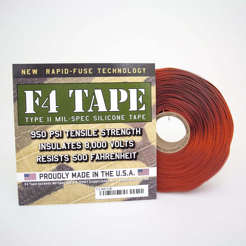 "F4 Tape - Self-Fusing Silicone Tape MIL-SPEC 1"" X 36' (Black): Electrical  Tape: Amazon.com: Industrial & Scientific"