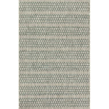 Loloi ISLE Area Rug, 9' 2  x 12' 1 , Grey/Teal