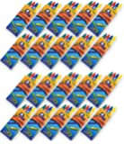4E's Novelty 576 Crayons! 144 Packs of 4 Crayons for Kids Bulk -Non-Toxic- 4 Colors in Each Crayon Box, Premium Crayons, Great Party Favor, Arts and Crafts Supplies for Toddlers, Goodie Bag Filler