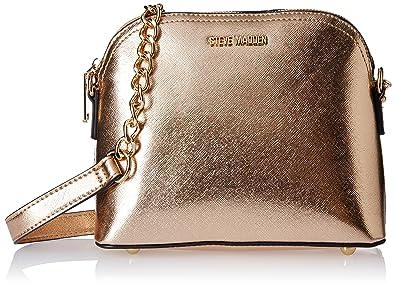 Steve Madden Women's Sling Bag (Rose Gold Saffiano)