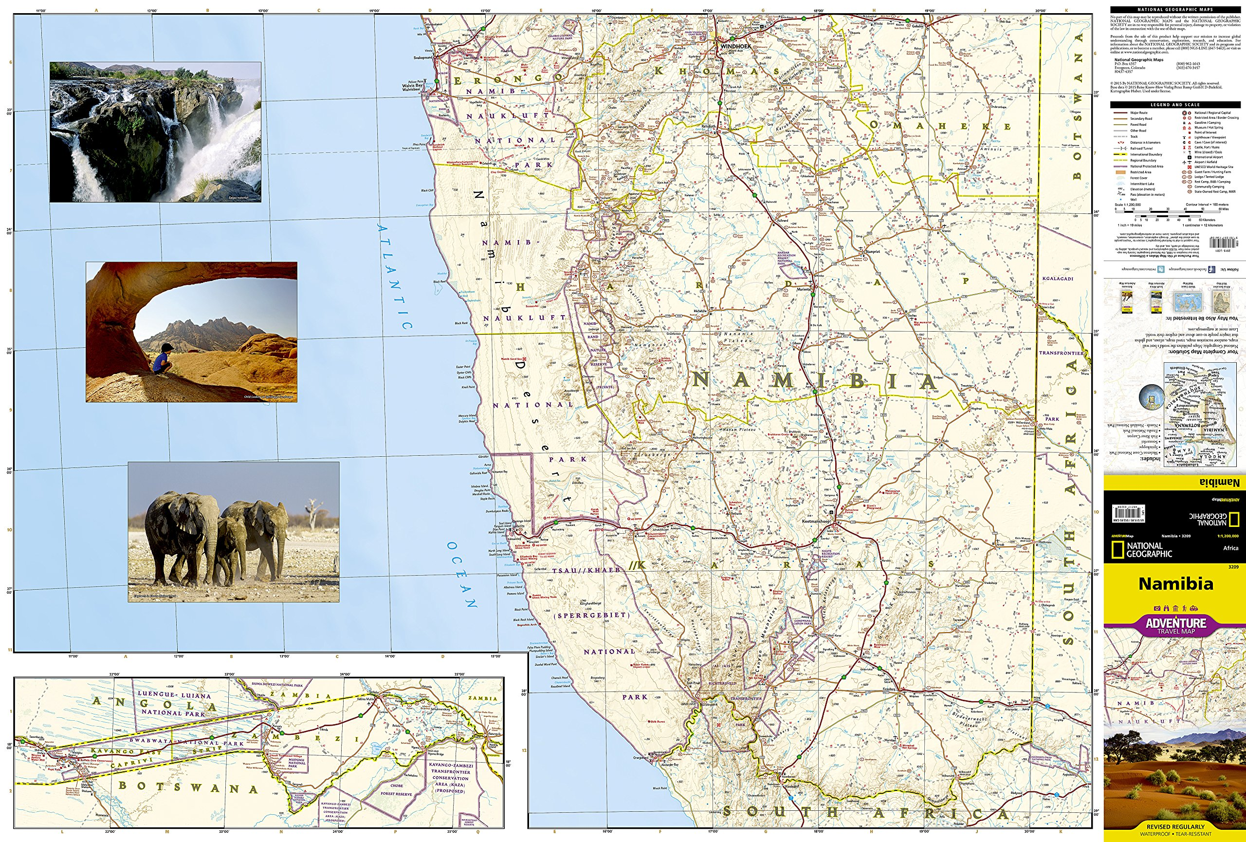 Namibia National Geographic Adventure Map National Geographic