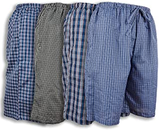 Andrew Scott Men's 4 Pack Light Weight Woven Lounge Sleep Shorts