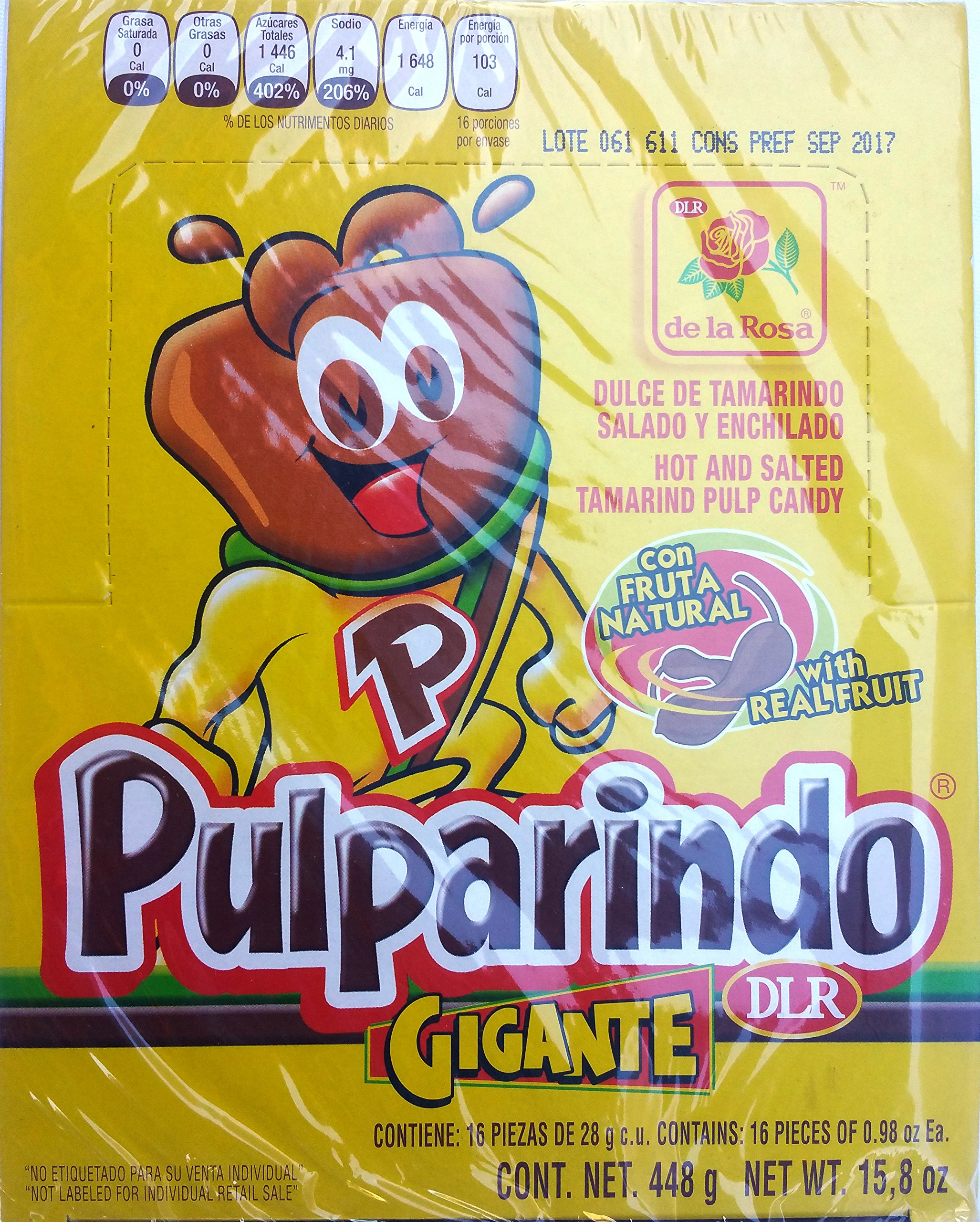 Pulparindo Gigante (Extra Large), 16 pack 0.98 oz each