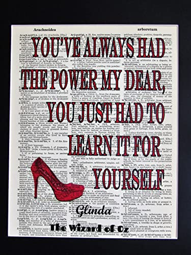 Amazoncom Youve Always Had The Power My Dear Wizard Of Oz Quote