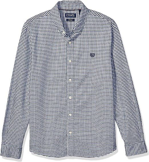 Chaps Mens Long Sleeve Cotton Button Down Shirt