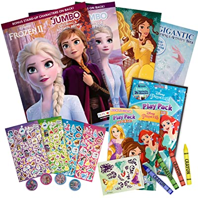 Mr Comic Frozen Princess coloring set includes stickers, colors and stampers Perfect for kids and toddler: Office Products