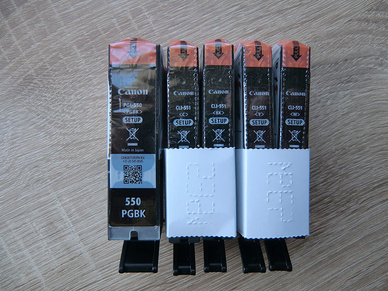 5 Cartuchos de impresora originales PGI550 CLI551 (Negro/Cian ...