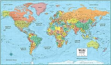 World Map To Color Amazon.: Rand McNally RM528959948 Rand McNally Full Color 50 x