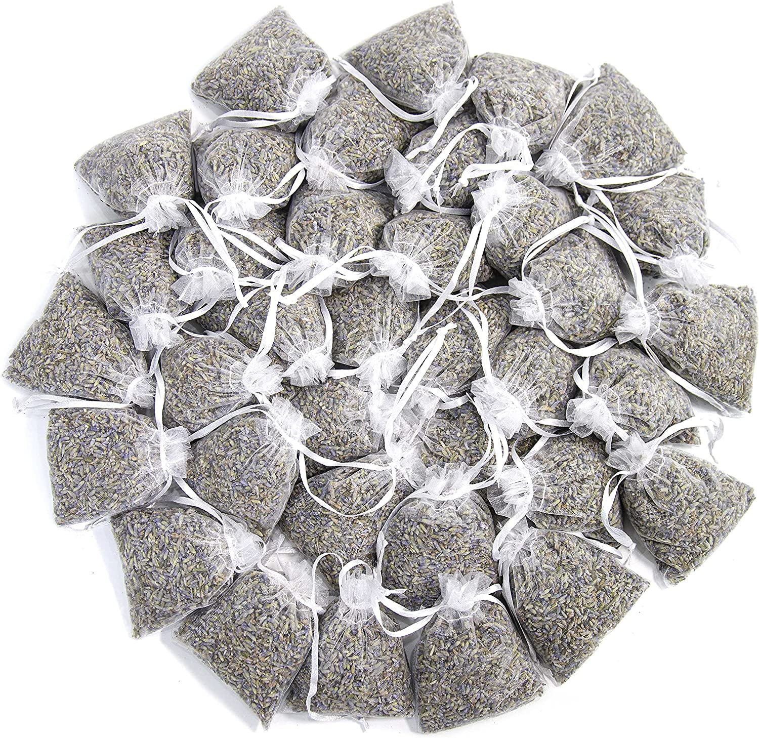 French Lavender Sachets for Drawers and Closets Fresh Scents, Home Fragrance Sachet, Pack of 36, White Sachets, LV-S-C-7