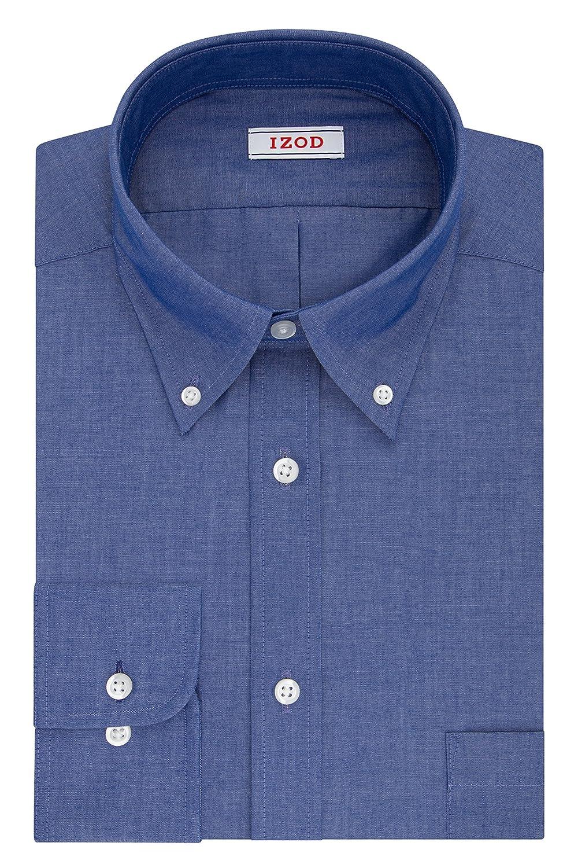 Indigo 17-17½  34//35 Tommy Hilfiger Mens Regular Fit Stretch  Long Sleeve Shirt