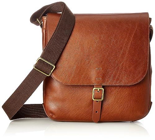 Fossil - Herrentasche ? Buckner Ns City Bag, Carteras Hombre, Marrón (Cognac), 6.35x27.94x27.31 cm (B x H T): Amazon.es: Zapatos y complementos