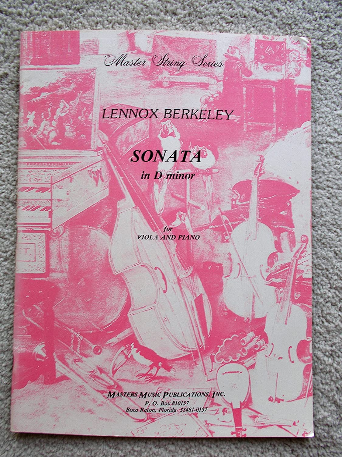 Lennox Berkeley: Sonata In D Minor For Viola and Piano. Sheet Music for Viola, Piano Chester Music Ltd VIOLA & PIANO