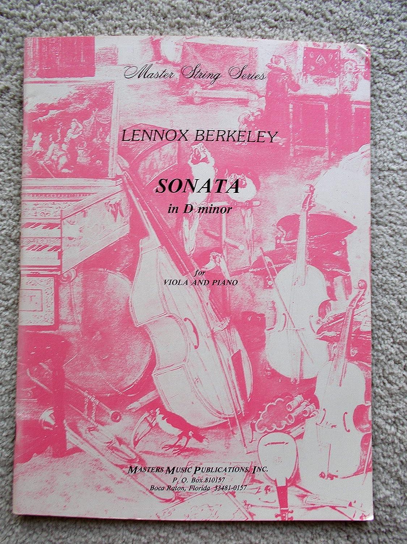 Lennox Berkeley: Sonata In D Minor For Viola and Piano. Sheet Music for Viola, Piano Chester Music Ltd VIOLA & PIANO