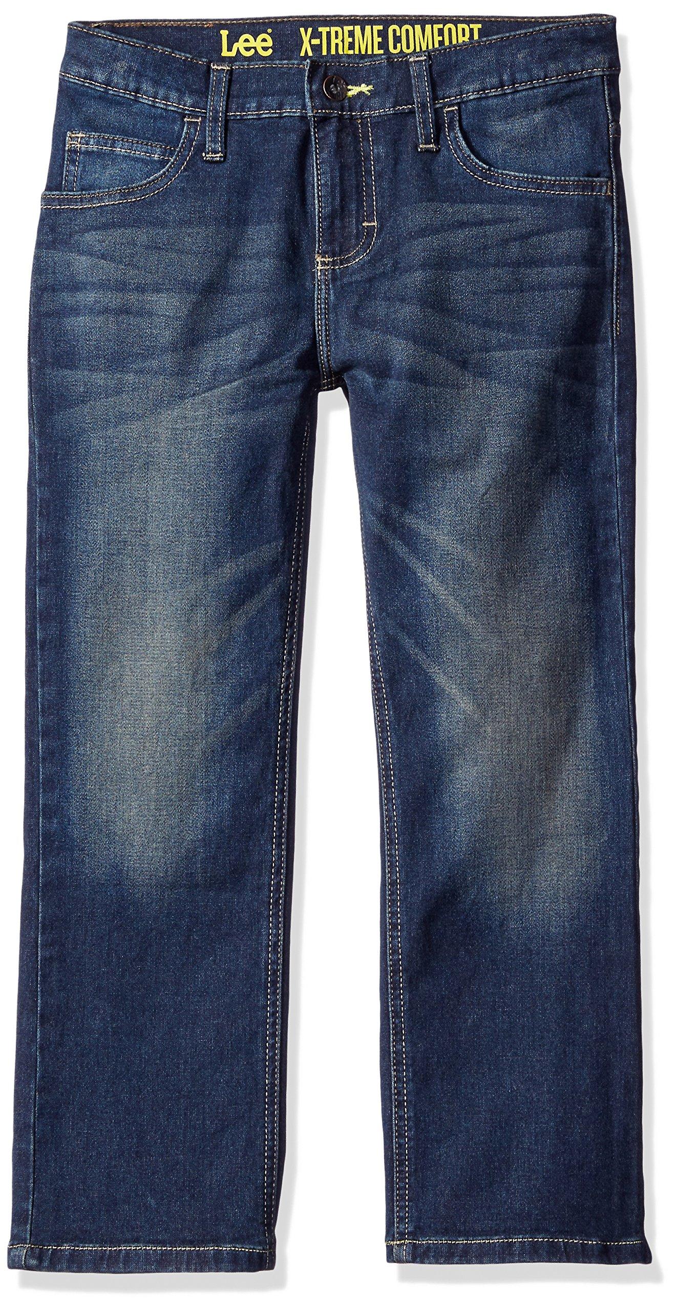 Lee Big Boys' Sport Straight Fit Knit Jeans, Bolton, 16 Regular