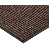 "NoTrax 109 Brush Step Entrance Mat, for Lobbies and Indoor Entranceways, 2' Width x 3' Length x 3/8"" Thickness, Brown"